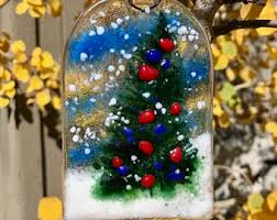 Glass Christmas Tree Ornament - glass christmas etsy