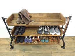 industrial pipe shoe rack shoe storage handmade shoe organizer