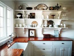Flooring And Kitchen Cabinets For Less Chic Kitchen Shelves Ideas Kitchen Shelf Ideas Kitchen Shelves