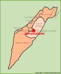 Isreal Map Jerusalem Location On The Israel Map