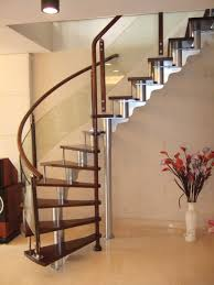 steel staircase design glass railing for balcony