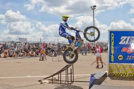 mad skills motocross 3 trials exhibition thrills fans at ama vintage motorcycle days