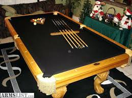 Felt Pool Table by Black Pool Table With Gray Felt A 7 English Contemporary Pool