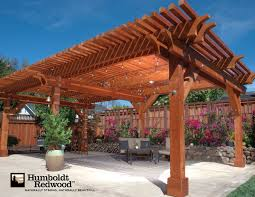 Building A Pergola Attached To The House by Pergolas And Shade Structures Humboldt Redwood Projectshumboldt