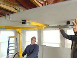 How To Build A Wall In A Basement by How To Drywall A Ceiling How Tos Diy