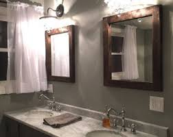 Reclaimed Wood Bathroom Mirror Reclaimed Wood Mirror Rustic Lodge Decor Bathroom Mirrors
