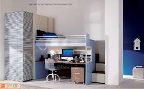 letto a con scrivania merlino con scrivania e cabina armadio