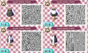 animal crossing new leaf qr code hairstyle animal crossing new leaf qr code kaneki waiter by