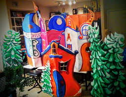 Grinch Decoration For Christmas by Building Whoville For Christmas Program Still Working On It All
