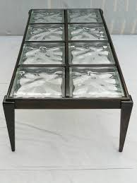 40s glass block coffee table glass blocks coffee and glass