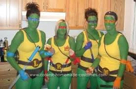 Ninja Turtle Halloween Costumes Coolest Ninja Turtle Diy Group Halloween Costume Idea Group