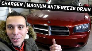 dodge charger how to drain the coolant system dodge magnum youtube