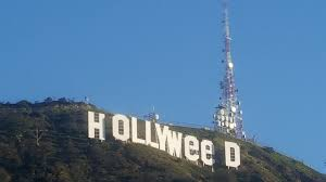 impressive prankster changed hollywood sign to read hollyweed
