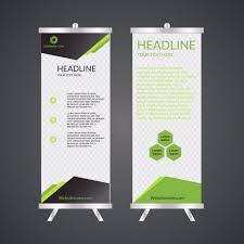 business roll up standee design banner template presentation