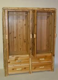Cedar Wardrobe Armoire Timberland Cedar Log Double Armoire Rustic Furniture Mall By