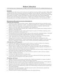 Instructor Resume Samples by Resume Format For High Students