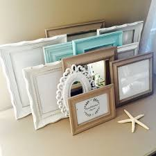 Gallery Wall Frames by Custom Taupe And Blue Gallery Wall Frame Set Hand Painted And