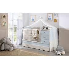 chambre bebe moderne bébé moderne coloris blanc et bleu