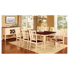Cherry Wood Dining Room Set by Sun U0026 Pine 9pc Curved Edge Dining Table Set Wood Cherry And