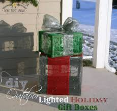 lighted christmas present boxes diy outdoor lighted gift boxes what knows
