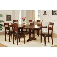 dining room dark extendable dining table with parson dining