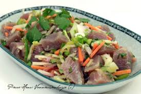 cuisine tahitienne recettes le poisson cru à la chinoise à tahiti le bar de chefounet