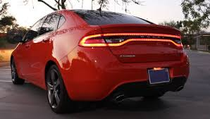 2013 dodge dart tail lights orange as the new black for the 2015 dodge dart review