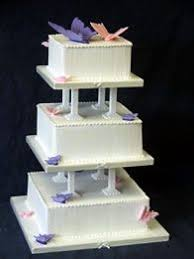15 Best Wedding Cakes Square With Pillars Images On Pinterest