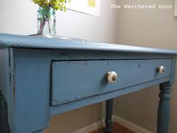 Diy Door Desk by A Smokey Blue Writing Desk The Weathered Door
