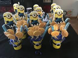 minion centerpieces minion lollipop center pieces minion bday party