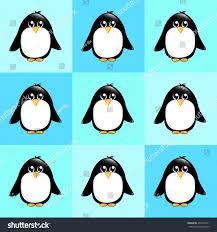 seamless background cute cartoon penguins on stock illustration