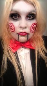 Saw Costume Blazer Blonde Bowtie Costume Death Evil Eyeliner Eyes