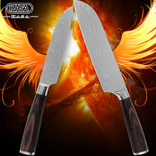 popular laser sharp buy cheap laser sharp lots from china laser 7 inch 5 inch santoku kitchen knives 7cr17 stainless steel knives durable sharp laser damascus veins