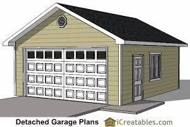 2 Car Detached Garage 20x26 1 Car Detached Garage Plans Download And Build