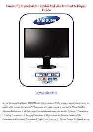 samsung syncmaster 225bw service manual repai by ronda geren issuu