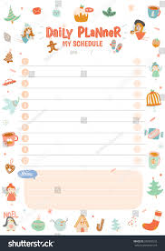 christmas planner template cute calendar weekly planner template 2016 stock vector 339957533 cute calendar weekly planner template for 2016 beautiful diary with vector character and funny christmas