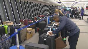 united airlines extra baggage united baggage delay gets worse passengers grow frustrated cbs