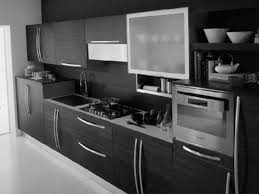 Kitchen Oven Cabinets by Kitchen Cool Black Marble Kitchen Cabinet With Grey Metal
