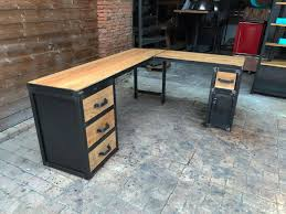 plateau bureau sur mesure brocantetendance fabrication sur mesure mobilier industriel bois