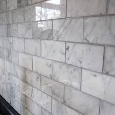 carrara marble subway tile kitchen backsplash carrara marble design ideas