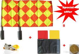 Red Flag Football Best Soccer Referee Flag Football Referee Linesman Flag Champion