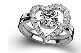 heart bridal rings images Bridal sets heart shape 1ct fine diamond ring wedding ring high jpg