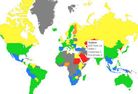 map of the countries best countries for budget travel map