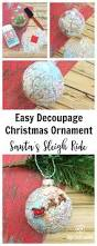 Christmas Map Easy Decoupage Santa U0027s Sleigh Map Ornament Gym Craft Laundry