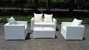 Caribbean White Wicker Outdoor PE Rattan Wicker Patio Furniture - Outdoor white wicker furniture