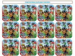 boys u0027 parties paw patrol paw patrol cupcake toppers printable