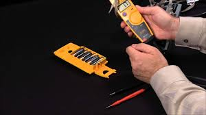 how to measure voltage and current using the fluke t5 youtube