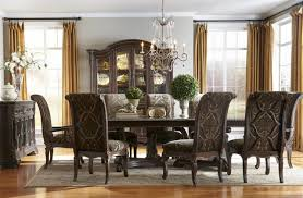 a r t gables 9pc rectangular double pedestal dining set in cherry