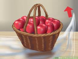 where to buy cellophane wrap for gift baskets how to wrap a gift basket 9 steps with pictures wikihow