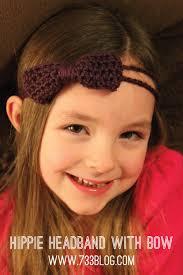 hippy headband crochet hippie headband with bow inspiration made simple
